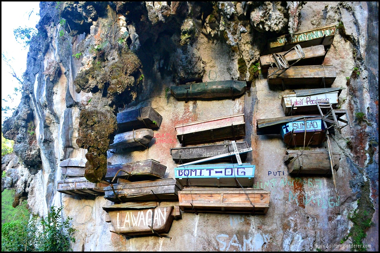 The hanging coffins in Sagada.