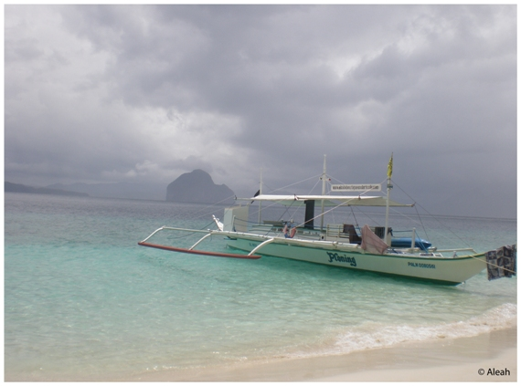 Miniloc Island beach in Palawan