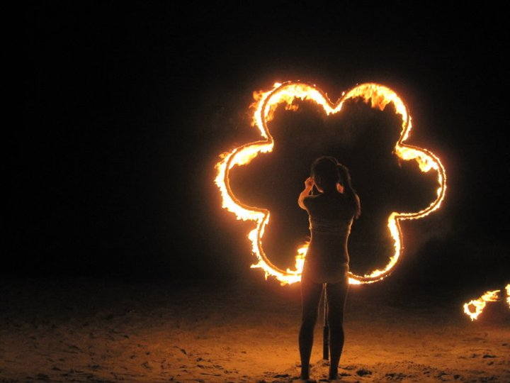 Fire dancers in Puerto Galera