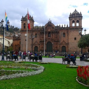 The weather was wonderful today in Cusco It was cloudyhellip