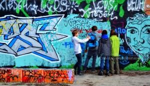 Graffiti Art in Mauerpark, Berlin