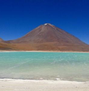 Laguna Verde Green Lake in Bolivia is one of thehellip