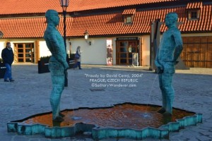 Kafka Museum and the Peeing Statues in Prague