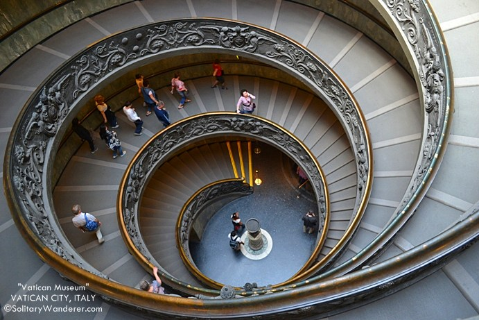 The Spiral Staircase At The Vatican Museum Solitary Wanderer