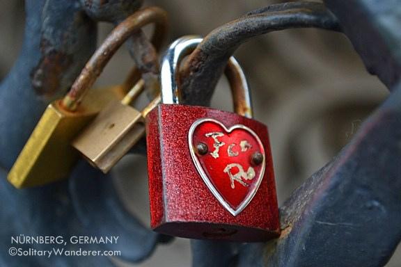 Love lock in Nürnberg