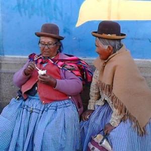 Spotted two Bolivian women in the market in Uyuni gossipinghellip