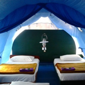 Camping in style at Sari Ater Resort in Indonesia. This…