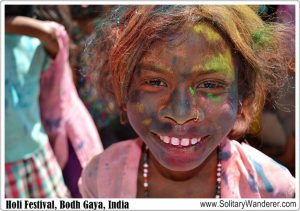 Celebrating Holi Festival with Kids in Bodh Gaya