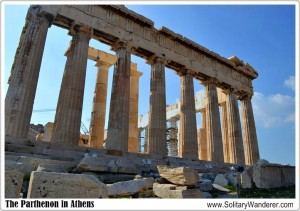 High Up in the Acropolis, the Sacred Rock of Athens