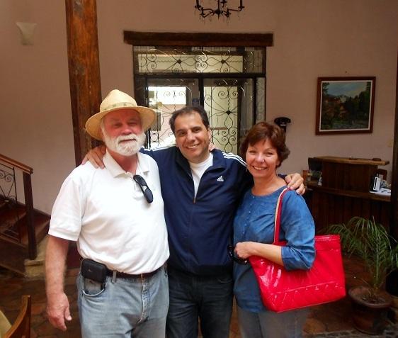 Together with Alberto Ordonez in Ecuador.