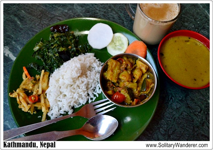 dal bhat Nepal food