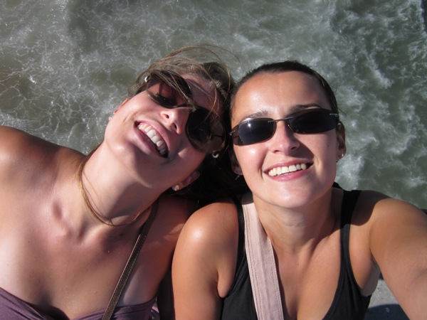 Sylvie and Sofie on that memorable trip in LA.