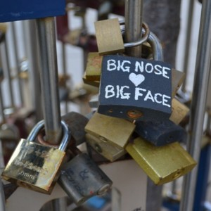 Who else finds this cute and sweet? Love lock spotted…