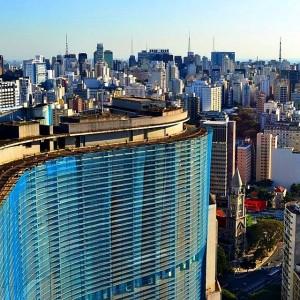 Sao Paulo skyline with an Oscar Niemeyer building in thehellip
