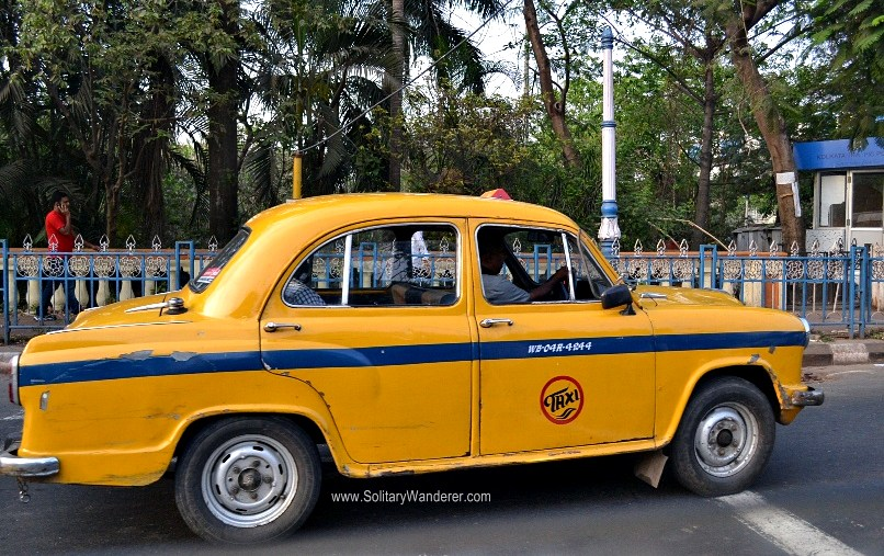I have no photos of Bolivian cabs yet, so here's one from Kolkata.