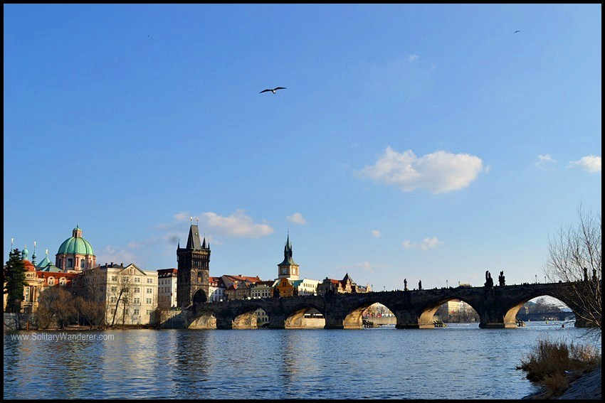 The iconic Charles Bridge in Prague.