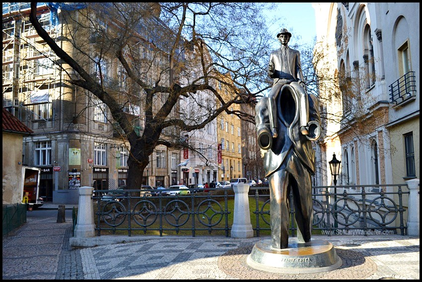 The Kafka Monument.