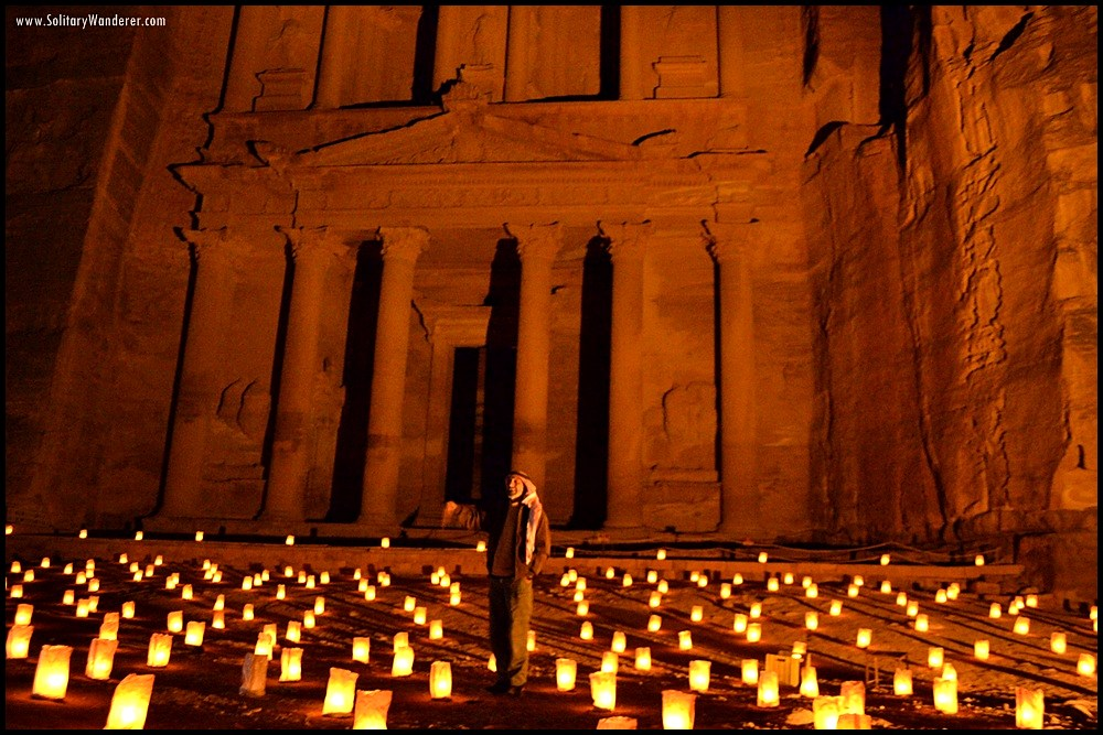 petra by night jordan