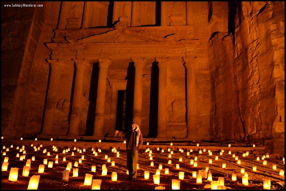 petra by night jordan