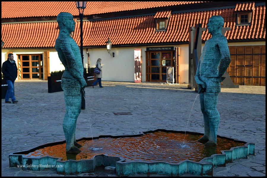 prague cerny statues