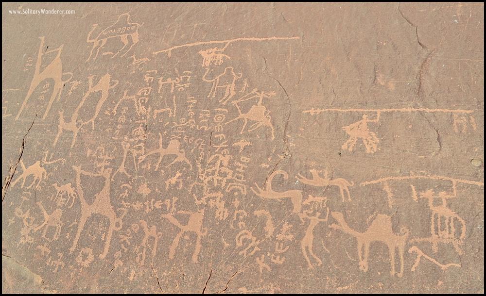 rock art wadi rum