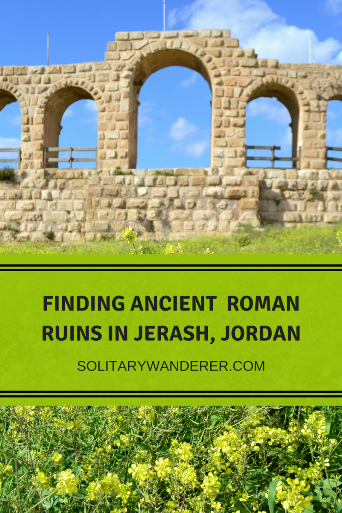 ancient roman ruins in jerash, jordan