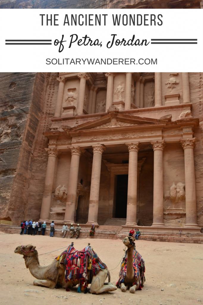 the ancient wonders of petra, jordan