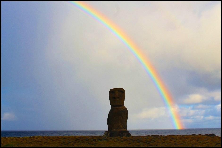 easter island rainbow