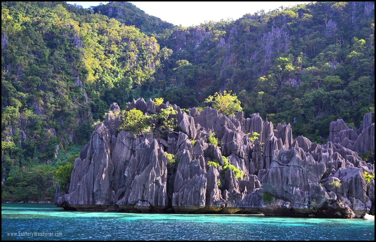 limestone cliffs coron