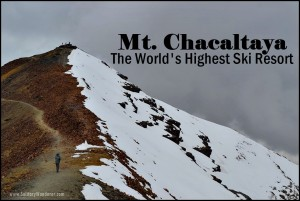 Scaling Mt. Chacaltaya in Bolivia, (Once) the World's Highest Ski Resort