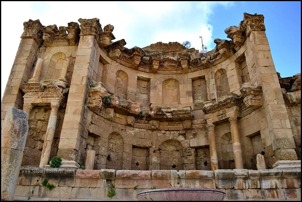 Nymphaeum roman ruins in jerash