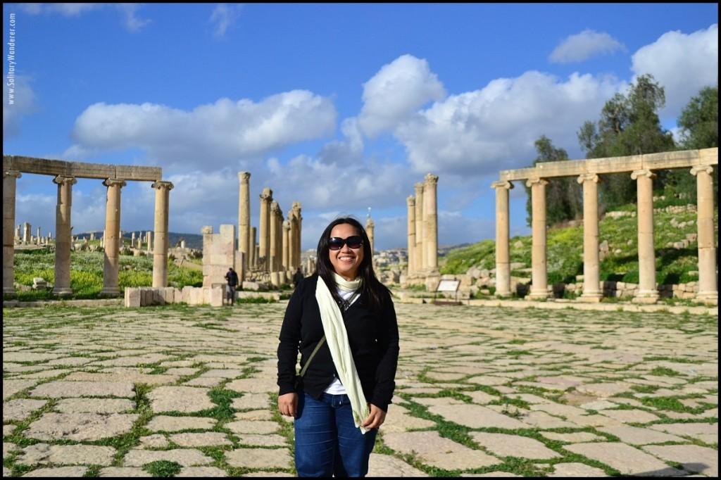 aleah in forum roman ruins in jerash