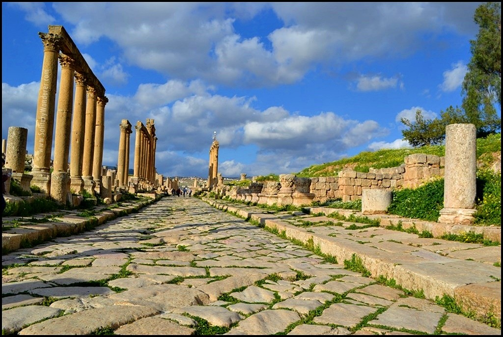 cardo maximus roman ruins in jerash