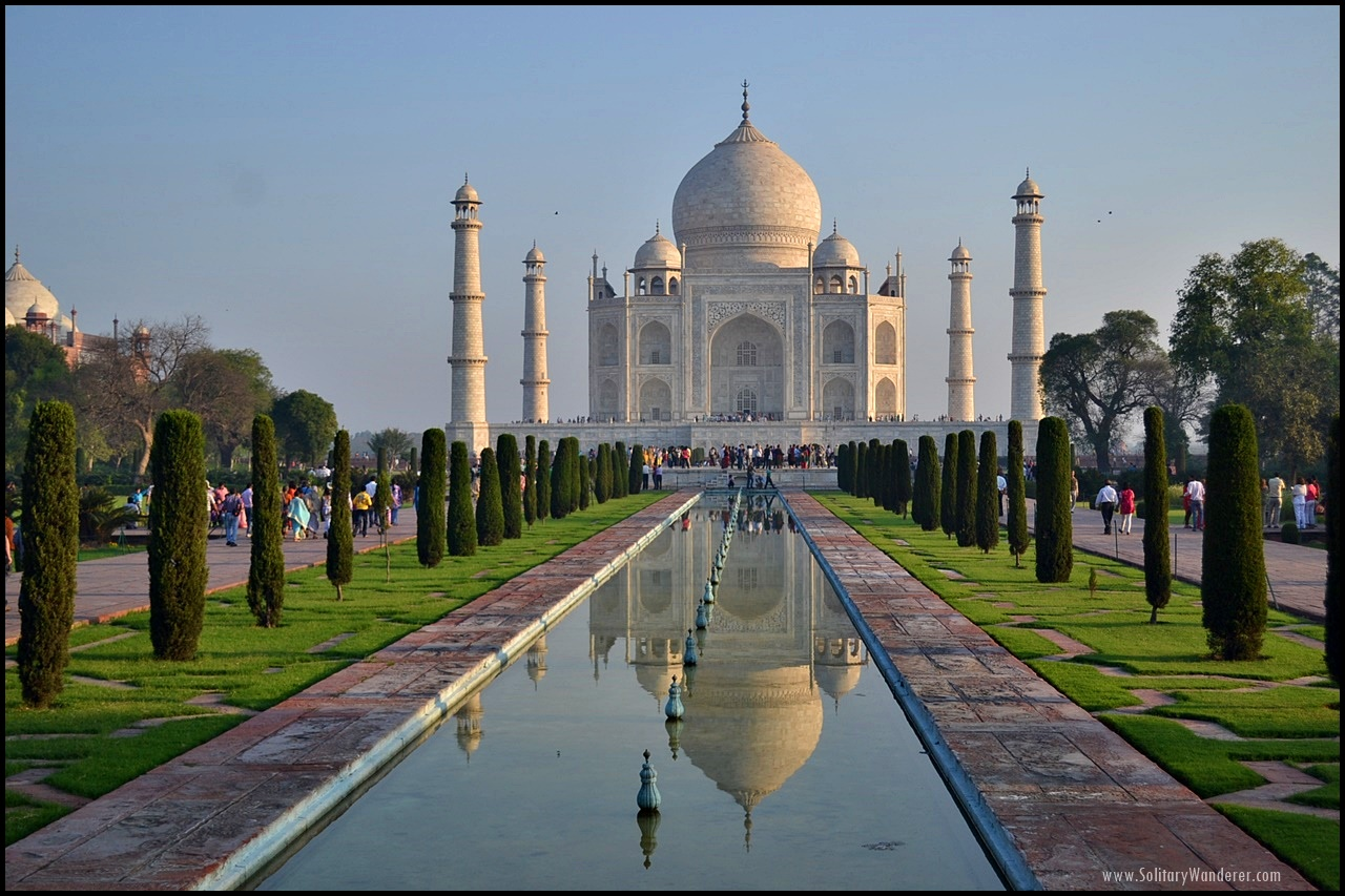 sunrise taj mahal india