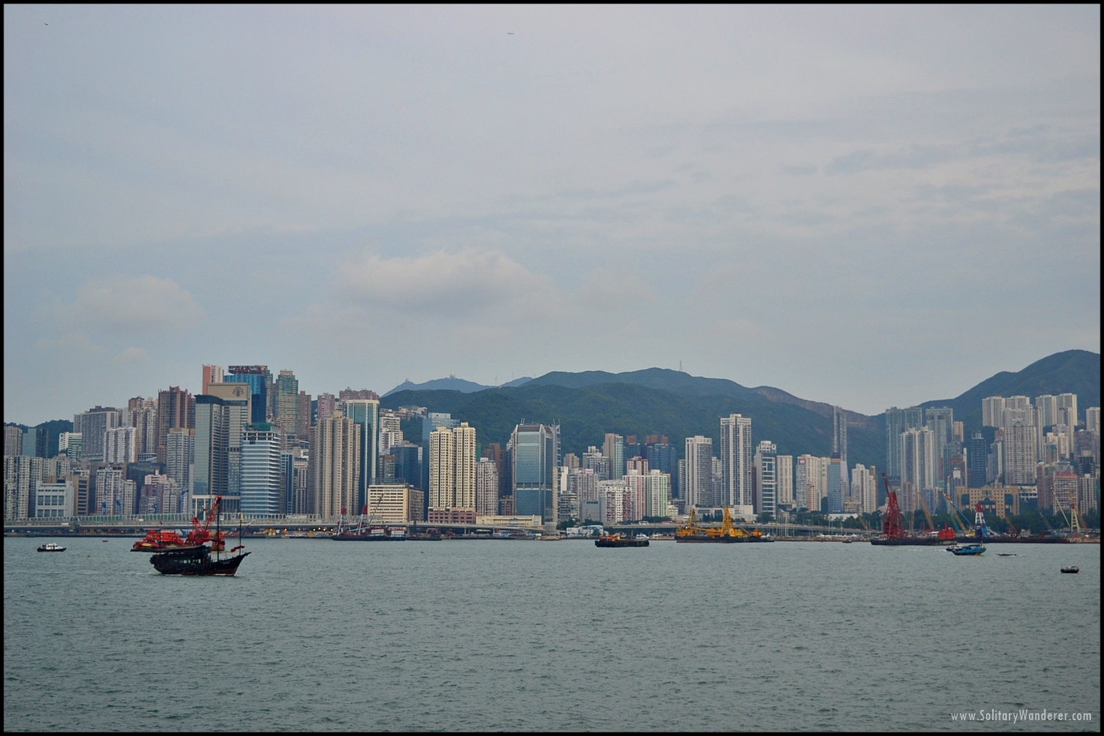 The iconic Hong Kong skyline