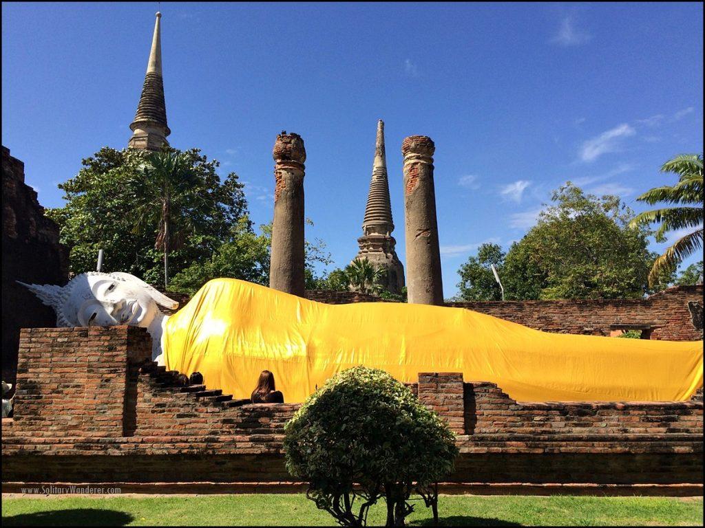 reclining buddha ayutthaya Wat Yai Chai Mongkhon thailand day trip