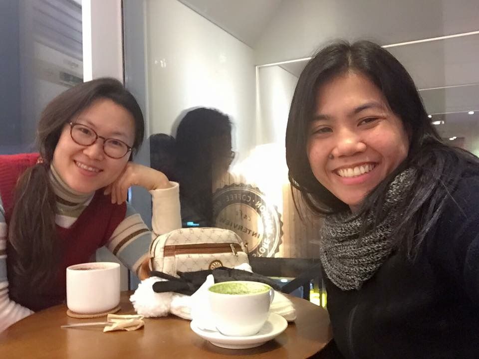 The Korean friend from Croatian hostel. We met in 3 other European countries and then visited her in Seoul a year after