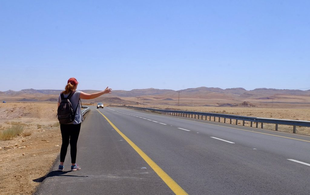 hitchhiking in Israel