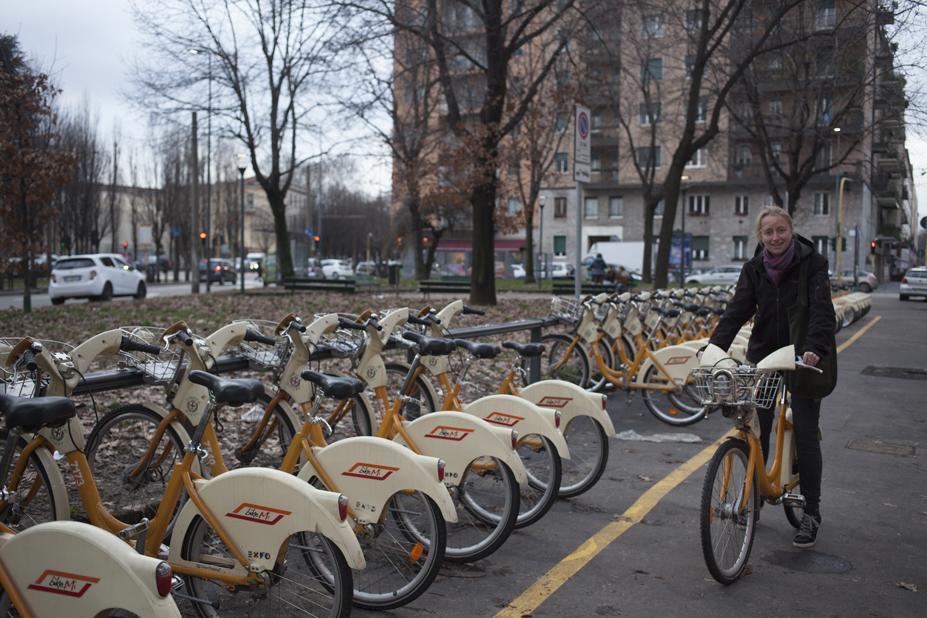 milan bike sharing service