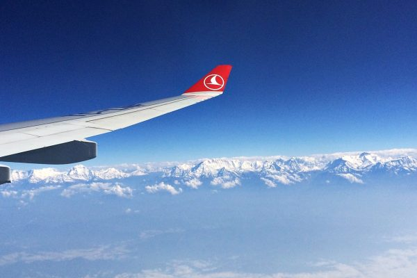 himalayas nepal airplane