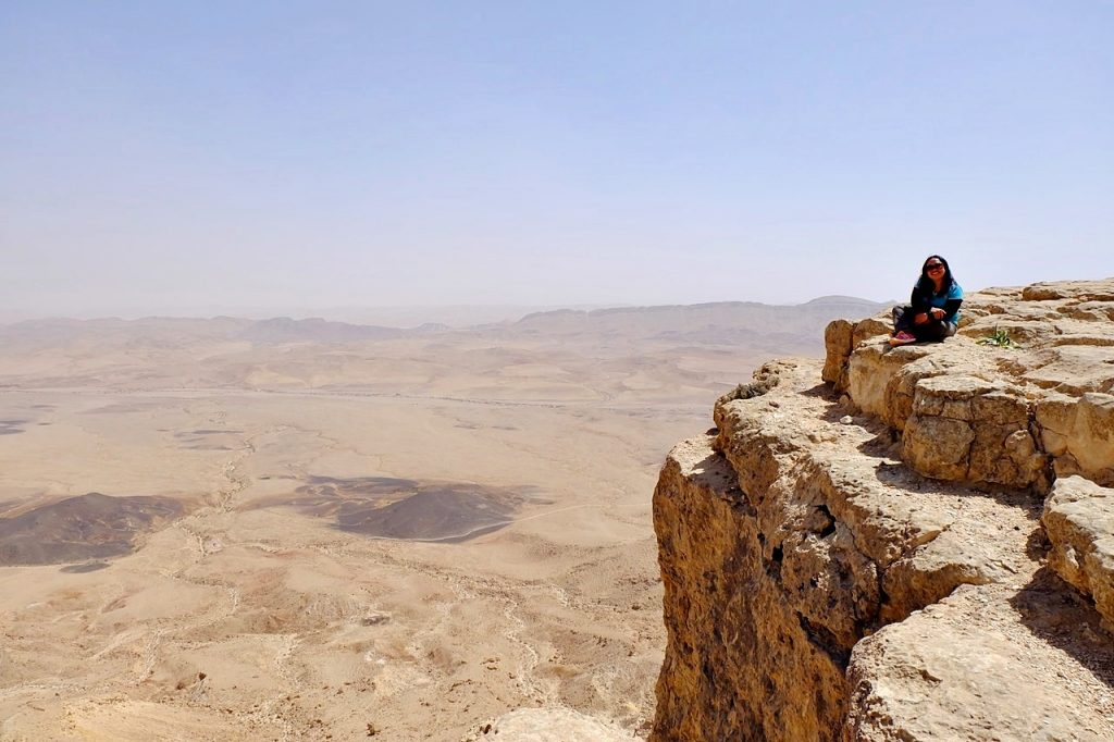 rappelling in israel -- aleah solitary wanderer