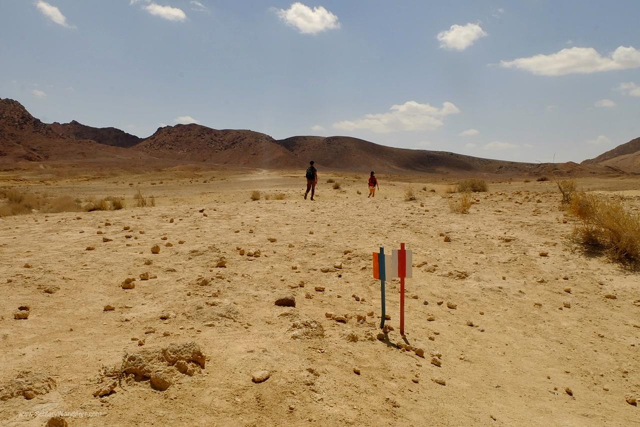 israel trail markers stick