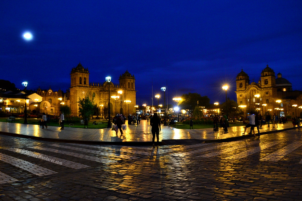 plaza de armas cusco night
