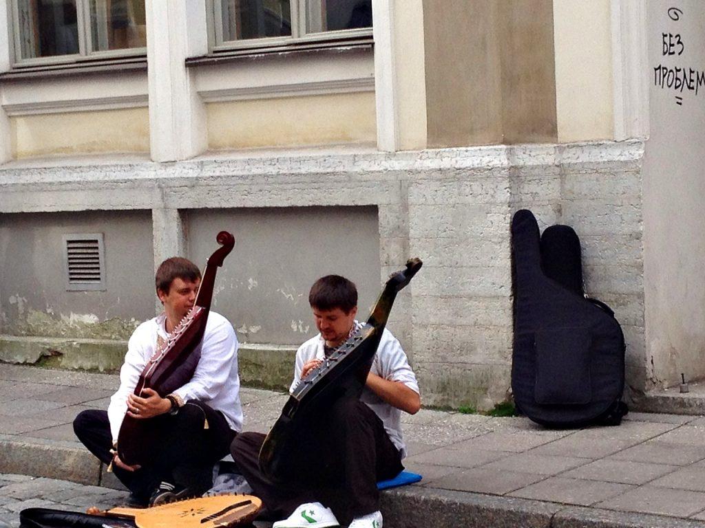 street musicians -- Traveling Solo in Tallinn, Estonia