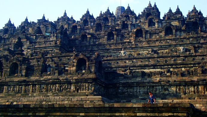 Borobudur, the biggest Buddhist temple.
