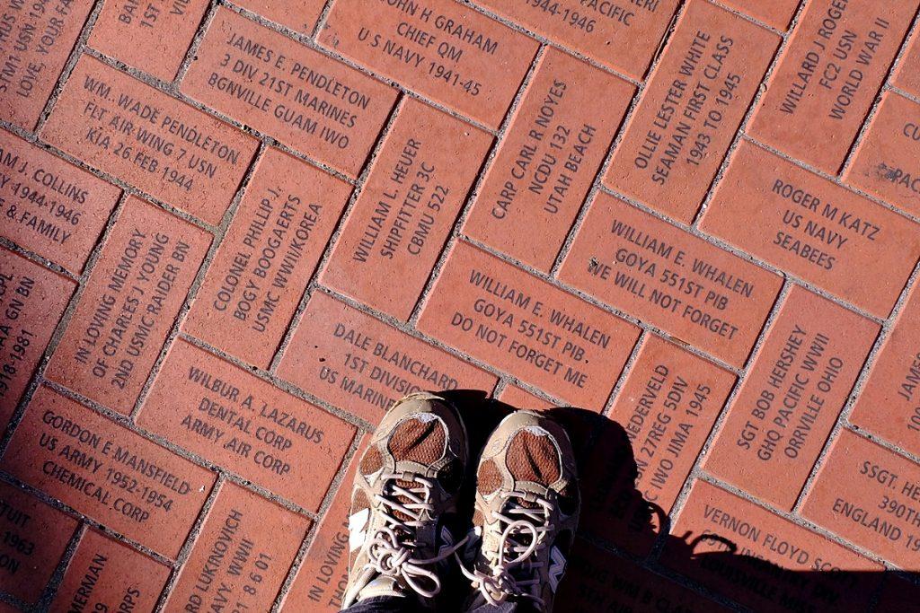 veteran bricks WWII Museum
