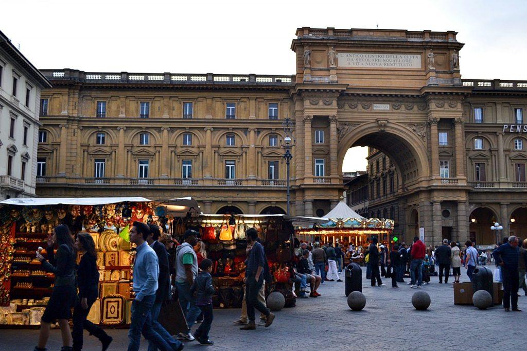 Piazza della Repubblica Florence Italy