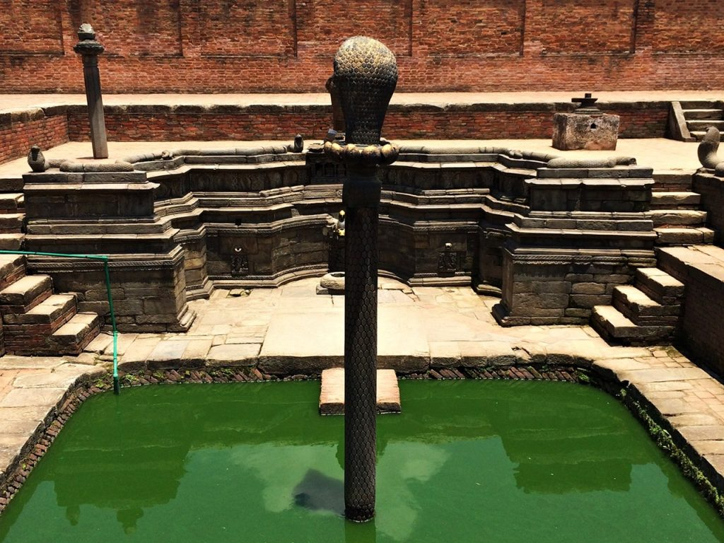 Naga Pokhari the Serpents Pool the Royal Palace in Bhaktapur