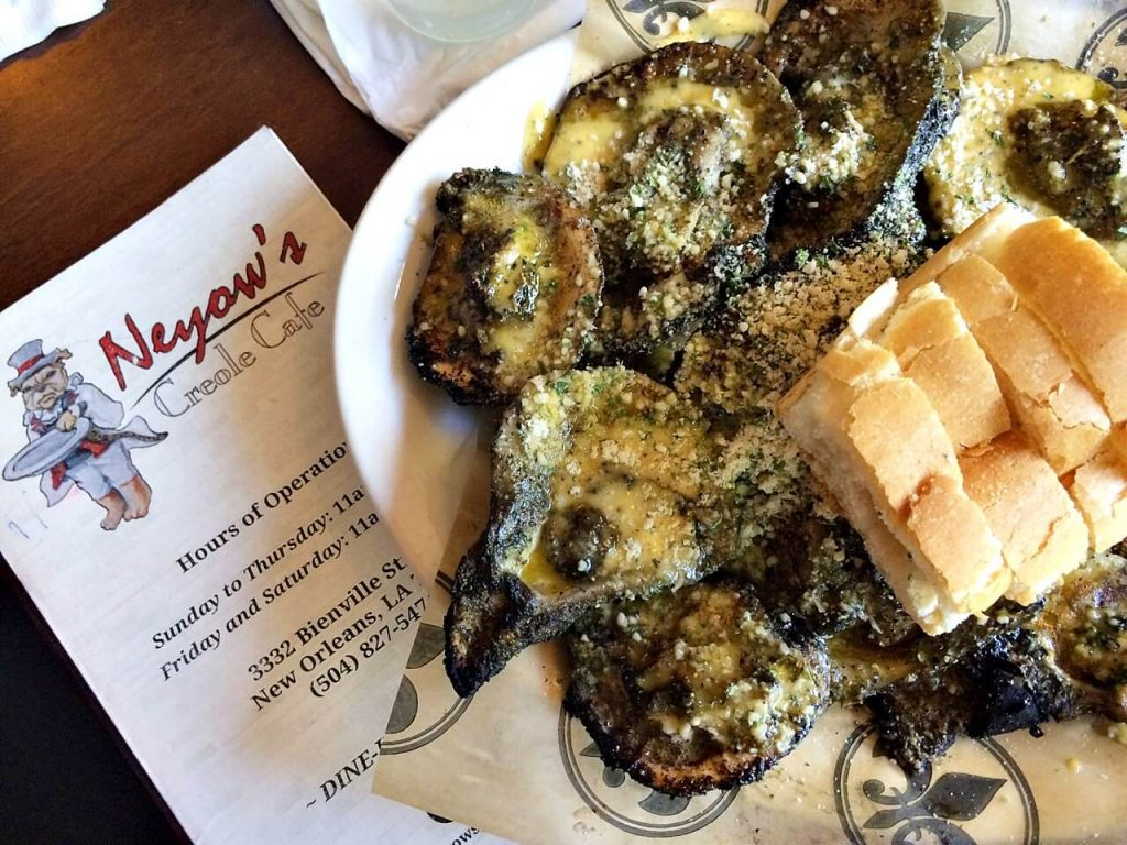 Neyow's Creole Cafe - best food in New Orleans - Grilled Oysters