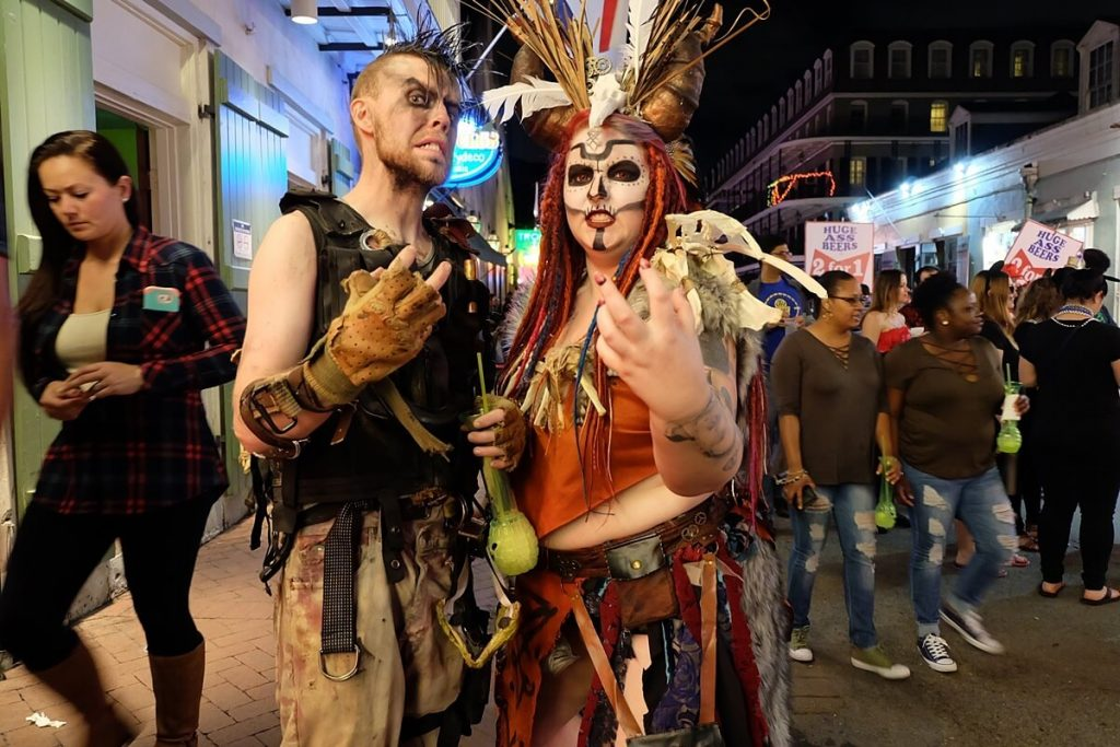 halloween in new orleans - costumed couple